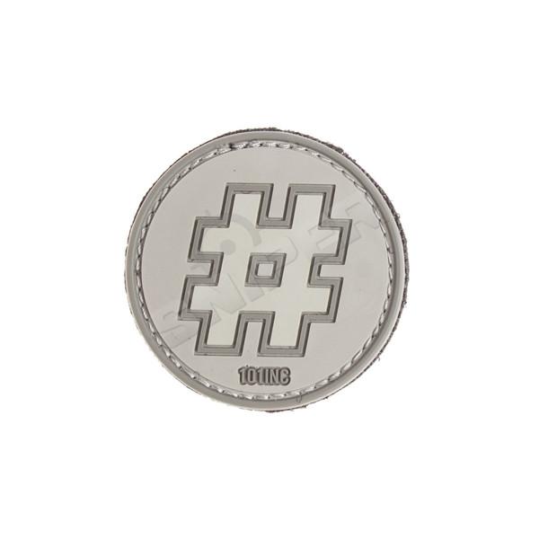 Hashtag PVC Patch, grey (B110)