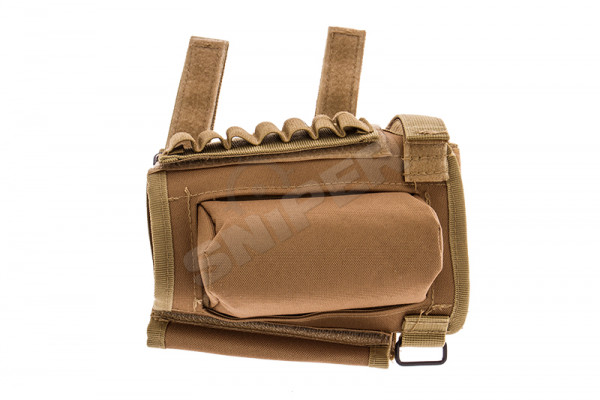 Sniper Rifle Ammo Stock Pouch, Tan
