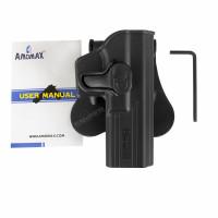 Formholster für Glock17, rechts, Black