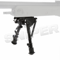 HS Spring Return Bipod, Black
