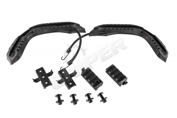 Fast Helmet Rail Set, Black