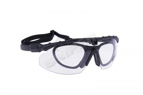Battle Pro Schutzbrille Set Black, Clear Lens