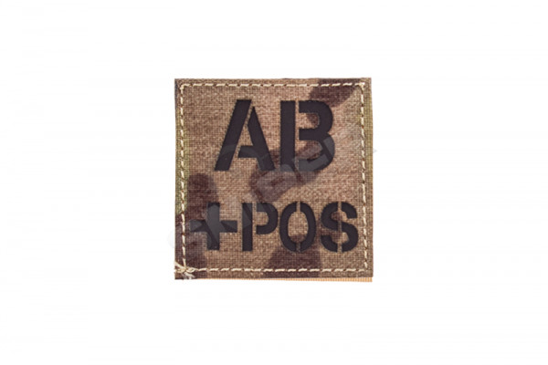 Blood Type AB+ Laser Patch, Multicam