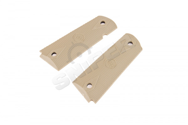 Overmolded 1911 Grip Set, Tan