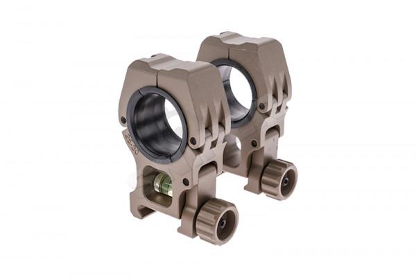 25mm/30mm QD Wasserwaage Scope Mount Rings, Tan