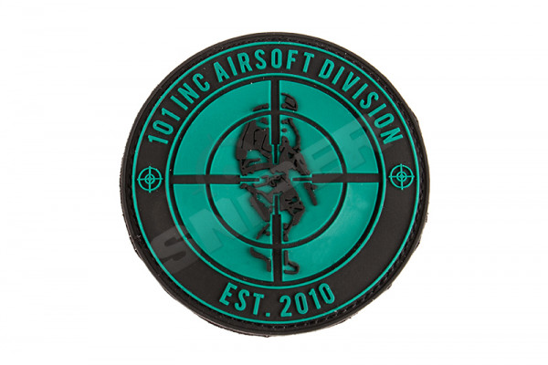 Rubber Patch 101 INC Airsoft Division, OD/Black