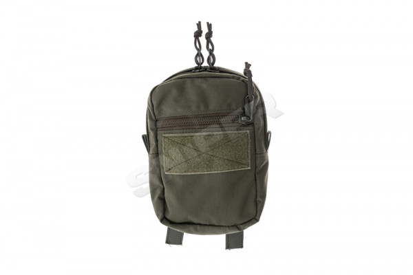 Vertical Double Zip Utility Pouch, OD Green