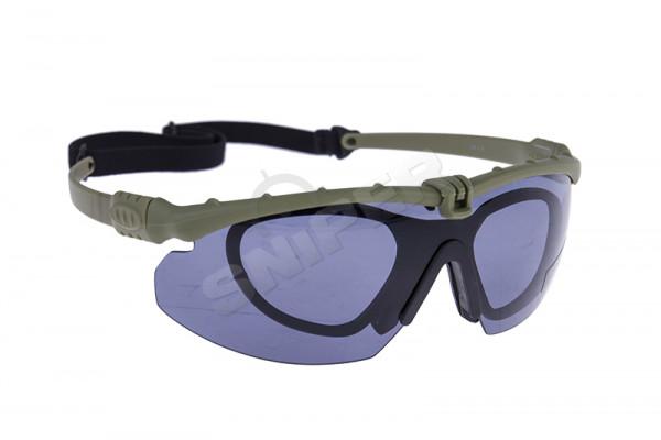 Battle Pro Schutzbrille Set Green, Smoked Lens