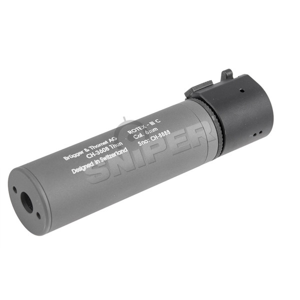 B&T Rotex III Compact Silencer, grey (17314)