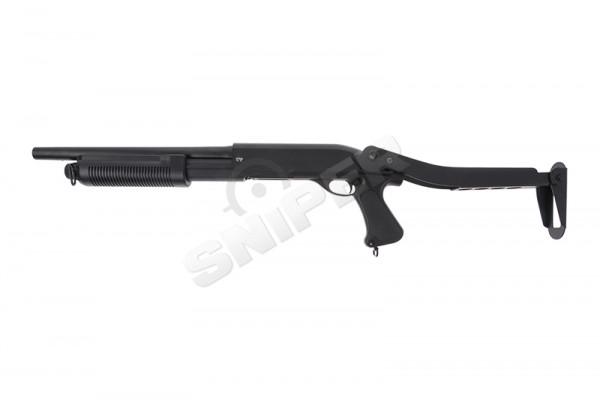 M870 Police Folding Tri-Shot Spring Shotgun, Black