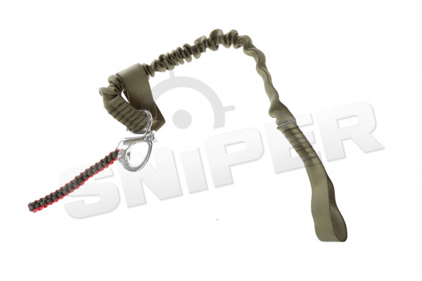 Sling rope with 1-D buckle, green