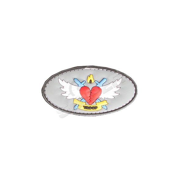 Flying Heart PVC Patch (B231)
