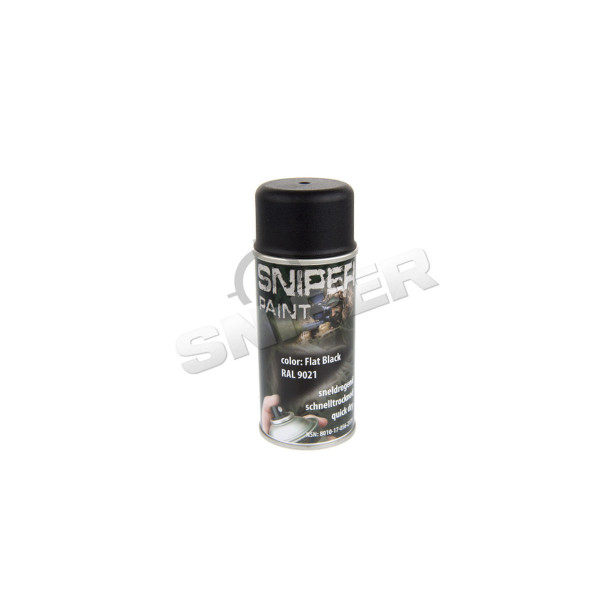 Sprühfarbe 150ml, Flat Black
