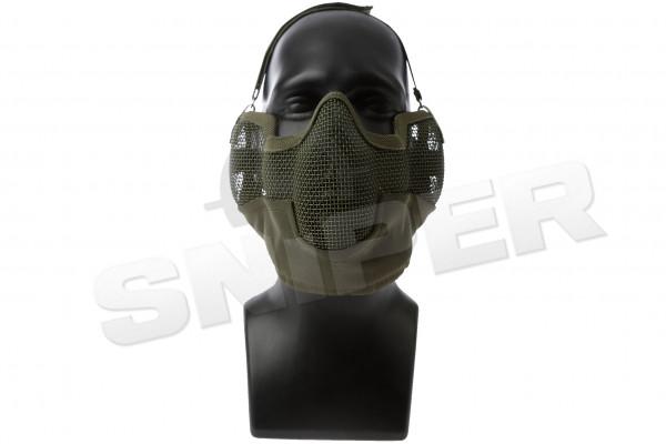 Strike Steel Face Mesh, OD Green