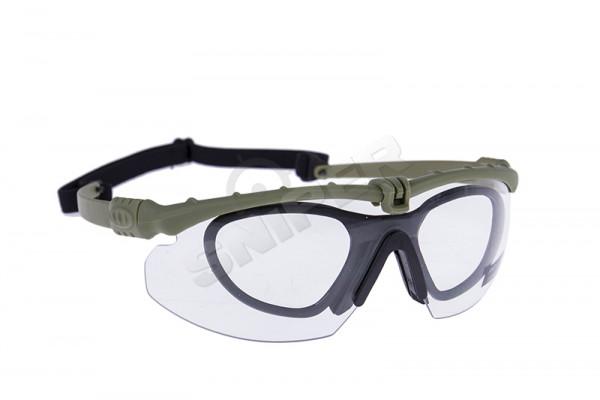 Battle Pro Schutzbrille Set Green, Clear Lens