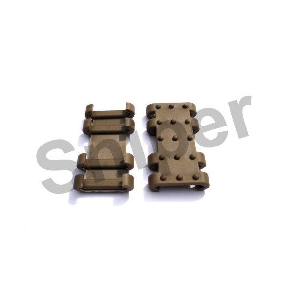 Rail Cover Set, tan - 12 Rails