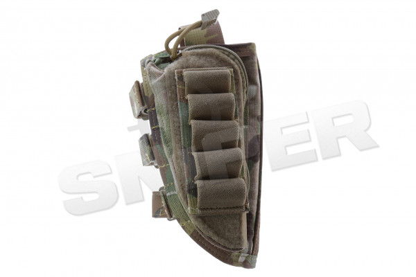 Sniper Rifle Stock Ammo Pouch, Multicam Deluxe