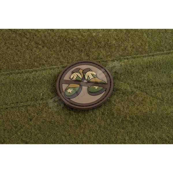 No Clown Shoes PVC Patch, brown/green (A109)
