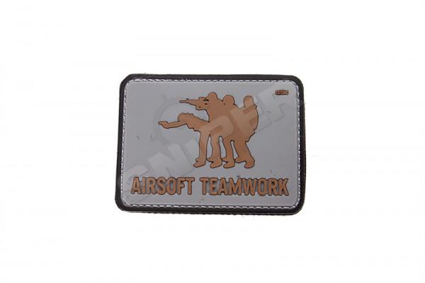Airsoft Teamwork PVC Patch, grau