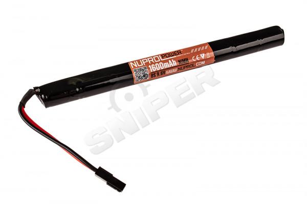 9,6V, 1600mAh NiMH Stick Type Akku