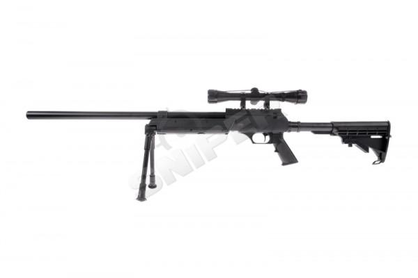 Tango T96 Spring Sniper Rifle Set, Black
