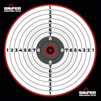 Zielscheiben 14x14cm, Sniper Target, 100 Stück