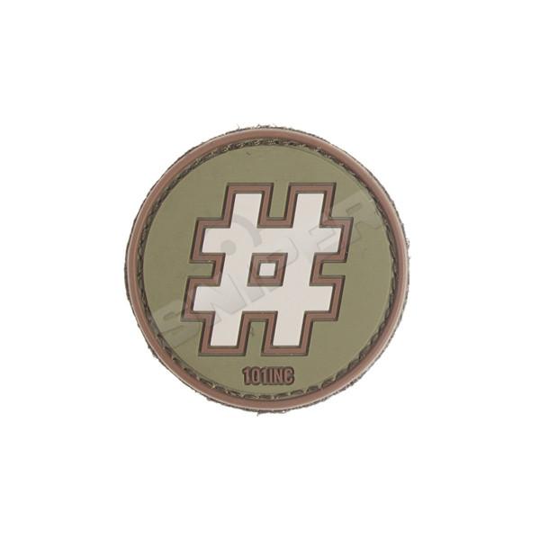 Hashtag PVC Patch, green (B109)