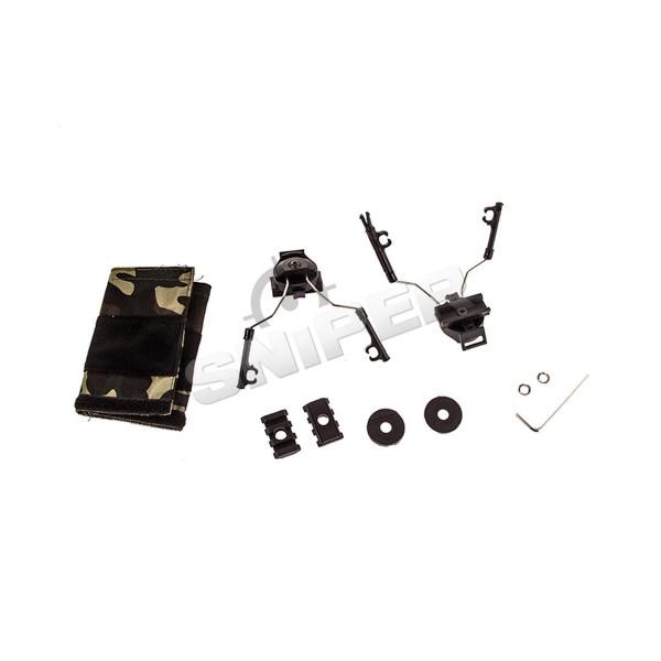 Z046 Helm Rail Adapter für Headsets, Black