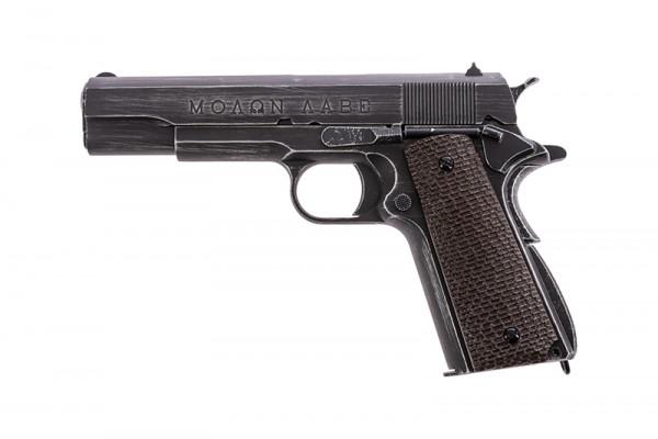 M1911 Molon Labe, black GBB