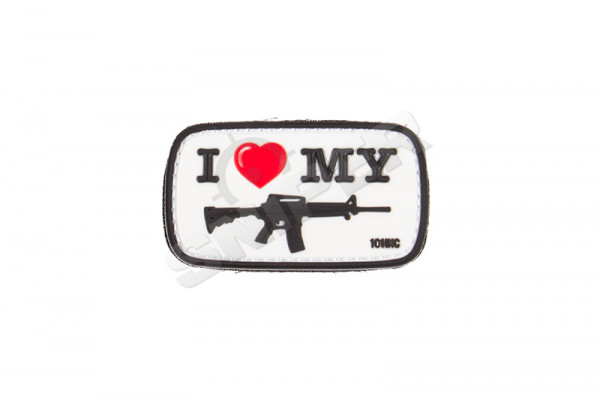I love my M4 PVC Patch, weis