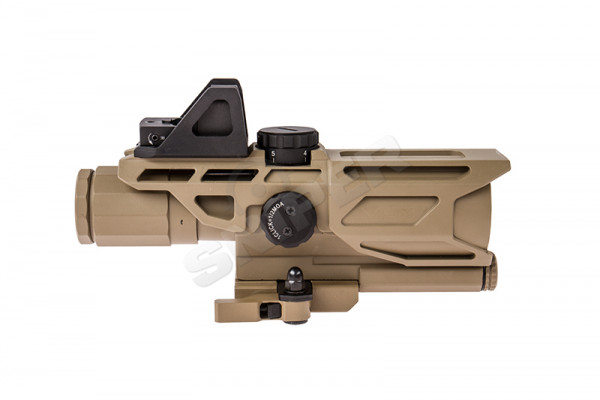 USS 3-9X40 Gen3 Scope mit Red Dot, Tan