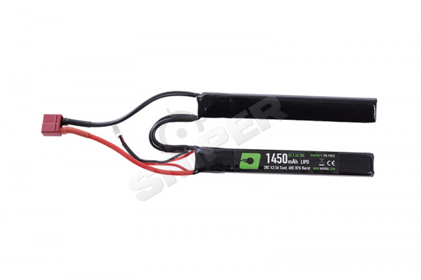 Deans 7,4V, 1450mAh 30C Lipo Double Stick Akku