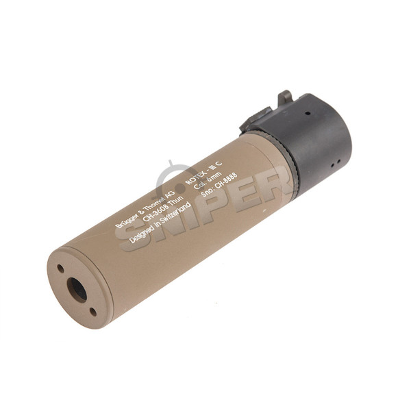 B&T Rotex III Compact Silencer, Tan