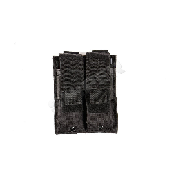 Double Pistol Mag Pouch Black