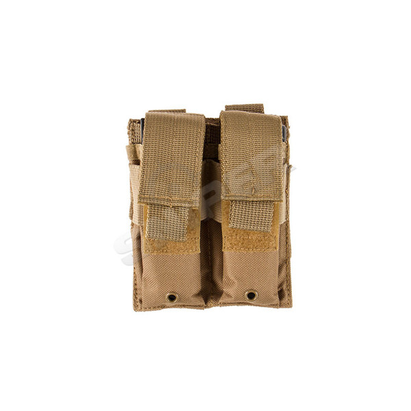 Double Pistol Mag Pouch Tan