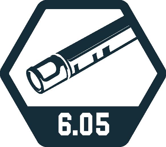 6,05 mm