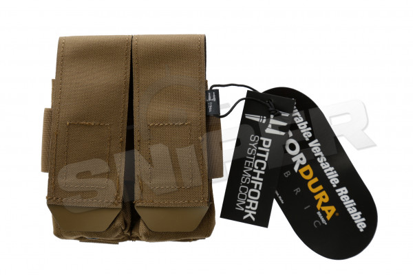 Closed Double Pistol Magazine Pouch, Coyote