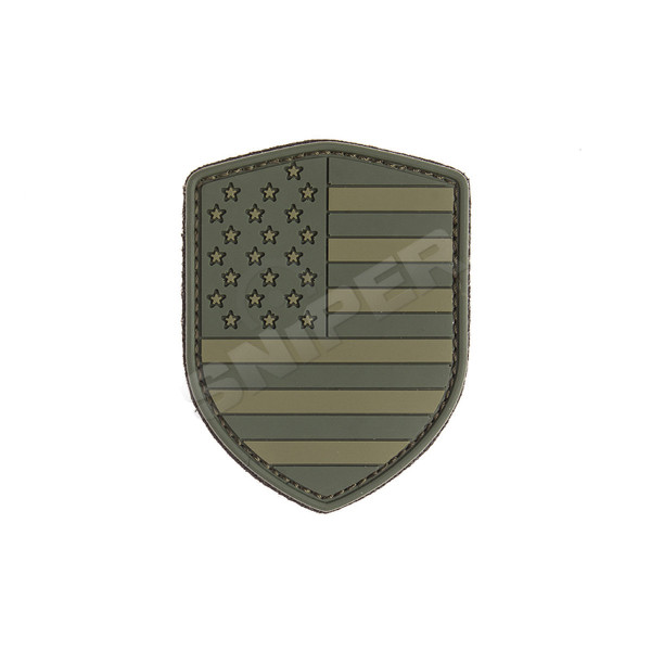 USA Schild PVC Patch, green (B113)
