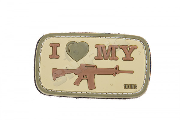 I love my M4 PVC Patch, tan
