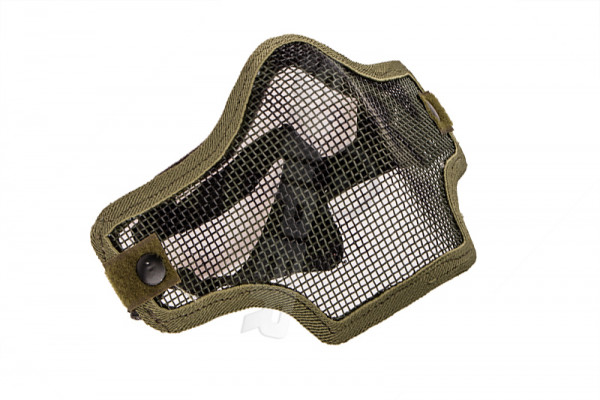 V Tactical 2G Mask Wire Mesh, Green Skull
