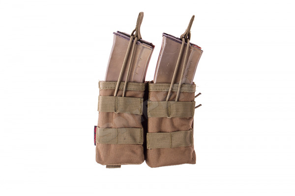 PMC AK Double Open Mag Pouch, Tan