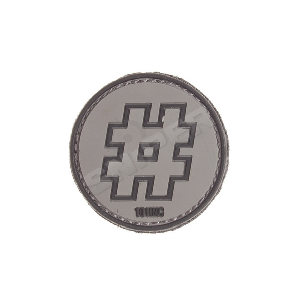 Hashtag PVC Patch, black (B108)