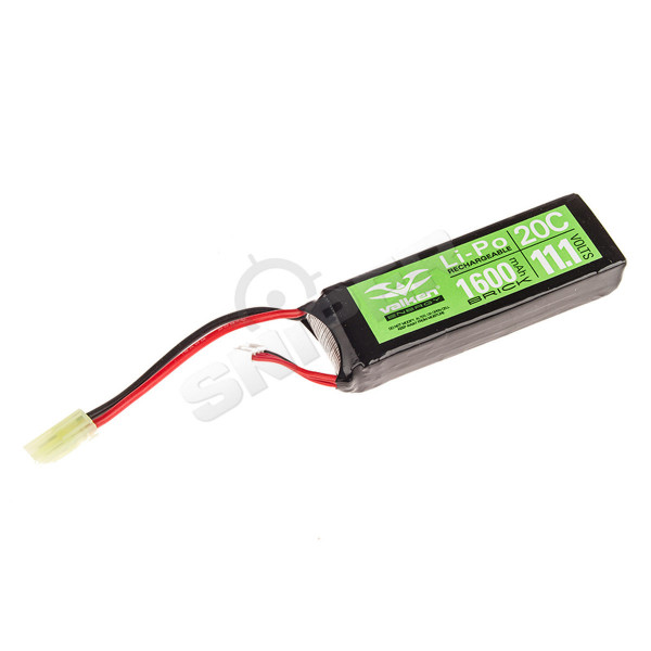 V Energy 11,1V 1.600 mAh Mini Brick Type LiPo Akku