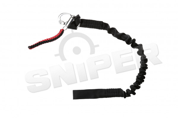 Sling rope with 1-D buckle, black