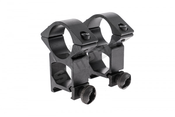 25mm High Profile Scope Mount, Black