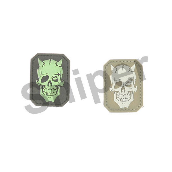 MM Devil Skull PVC Patch, desert (A37)