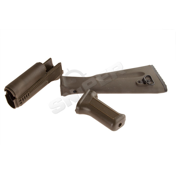 LCK74M Nylon Handguard Set (OD) (PK-53)