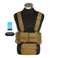 Micro Fight Chissis MK3 Chest Rig, Coyote Brown