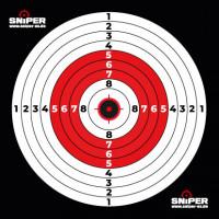 Zielscheiben 14x14cm, Sniper Target red, 100 Stück