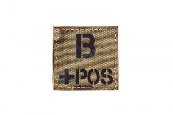 Blood Type B+ Laser Patch, Multicam